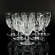 Waterford Cut Crystal Glass Colleen Red Wine Drinking Glass Set Of Six Stemware