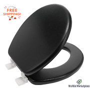 Round Soft Vinyl Padded Cushioned Bathroom Toilet Seat Cover Free Shipping New