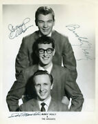 Buddy Holly And The Crickets Signed 8x10 Reprint From Original Signed Photo