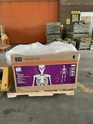 12 Ft Foot Giant Skeleton W/ Animated Lcd Eyes Halloween Prop Home Depot Rare