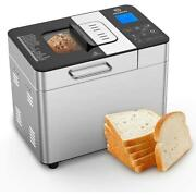 Bread Maker With Automatic Fruit Dispenser Stainless Steel Bread Machine 2lb