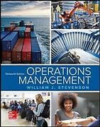 Operations Management, Hardcover By Stevenson, William J., Like New Used, Fre...