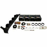 Glowshift Gauge Package For 87-91 F-series W/ Oil Psi Water Trans Temp And Volt