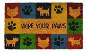 Notrax Wipe Your Paws Vinyl-backed Natural Coir Doormat Entry Mat For Indoor ...