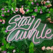 Stay A While Neon Signs Light Room Wedding Party Bar Decor Custom Led Lights 16
