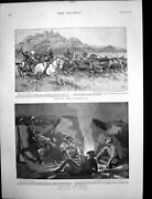 Antique Old Print Rhodesia Captured Cattle Siers Fire Boulogne Fishgirl1896