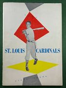 1954 St Louis Cardinals Team Yearbook With Stan Musial
