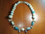 Antique Beads - Egyptian Faience - Rarity Original Authentic Ancient Artifact