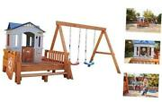 Real Wood Adventures Chipmunk Cottage Outdoor Wooden Backyard Playset With