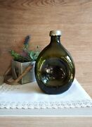Vintage Green Decanter By Georg Nilsson For Gerotin Made In Denmark In 1920's