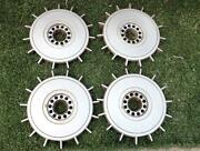 Vintage Volvo Wheelcovers Set Of 4 1980and039s 240 740 Hub Caps Starburst Design Cool
