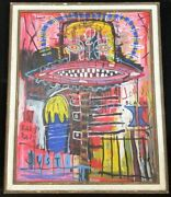 1-point Special Listing Jean Michelle Basquiat 1983 Large Oil Painting With Sign