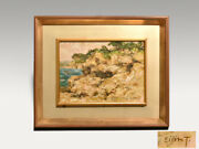 Eijiro Tanabe Oil Painting F4 Landscape Full Of Life Member Iyokai With Sign