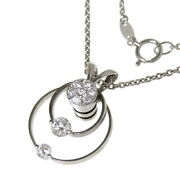 Waltham Swing Externally Made Chain Diamond Total 0.52ct Necklace K18wg Whi...