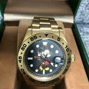 Beams X Over The Stripes Mickey Mouse Watch Self-winding Japan