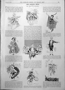 Old Captious Critic Caricatures Actors Lytham St Anne's Golf Cup 1904 20th