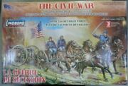 1/16 Northern Field Artillery With Carriage American Civil War Lindbergh