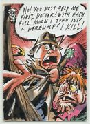 2020 Topps Garbage Pail Kids Halloween Stories Lowell Isaac Sketch Card 5/18