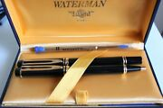 Waterman Le Man 200 Fountain Pen With 18k Gold Nib And Ballpoint Pen In Black