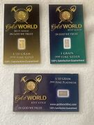 2-1/10th Gram Bars Gold And Platinum And One Grain Of Silver Bar 3 Bars Total