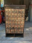 Early 1900 Brass Doors Post Office Mail Box Cabinet S Combo