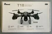 Potensic T18 Gps/1080p Drone W/ Camera Live Video And Return Home + 3 Batteries