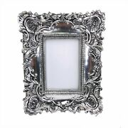 Antique Silver Picture Frame Baroque Ornate Style Wedding Family Gifts 8x10