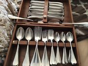 Wmf Cromargan Germany Marlow Stainless Flatware Service For 12 74 Pieces W Box