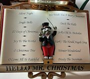 Mr. Christmas Maestro Mouse Lights And Sounds Of Christmas Excellent Condition