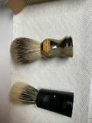 Lot Of 2 Vintage Shaving Brushandrsquos. Boots And Williams Cutlery With Boxandrsquos Nice