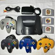 Maintained Cleaned Nintendo 64 Controllers Ssb Maripa Bomberman Set To Play