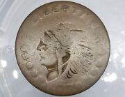 1870's Indian Post Trader Fc-221a Token Good For 5 Cents Very Rare