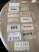 Vintage Cb Ham Radio Qsl Cards Postcards Lot Of 13 Mixed 1930andrsquos A7