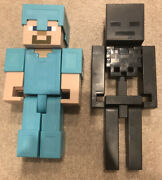 Minecraft Wither Skeleton Steve Diamond Armor 8.5 Inch Action Figure Mojang