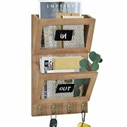 Wall Mount Mail Organizer And Key Holder Decorative Key Rack Key Hangers For ...