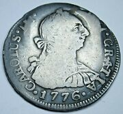 1776 G P Guatemala Silver 2 Reales Spanish Us Colonial 1700s Two Bit Pirate Coin