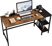 Joiscope Home Office Computer Desk, Study Writing Desk With Wooden Storage Shelf