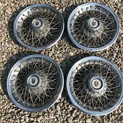Set Of 4 Vintage Chevy Monte Carlo 15 Wire Spoke Hubcaps.