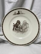 Wedgwood Non-sporting Dog Plate Poodles 'march Winds' Marguerite Kirmse Reprod