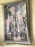 Huge Disney Castle Happiest Celebration On Earth Limited Edition Wall Tapestry
