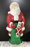 Vintage Lighted Santa Claus Blow Mold 38 1997 Grand Venture Toy Soldier Gift