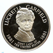 1972fm Us Usa White House First Lady Lucretia Garfield Proof Silver Medal I95829