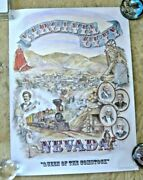 Lovely Poster Virginia City Nevada The Silver Kings Mark Twain Comstock By Hill
