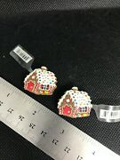 Christmas Gingerbread House 2 Pack Crocs Shoe Charms New