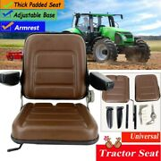 Compact Tractor Seat Replacement With Armrest For Lawn Mower Forklift Excavator