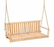 Porch Swing Chains Traditional Wooden Outdoor Hanging Patio Wood Swinging Chair