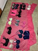 Lot 16pc Victoria Secret 32a - 34a Small Ex Small Strapless Sports Push Up