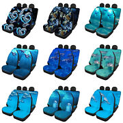 For U Designs Car Seat Covers Full Set For Women Cute Dolphin Front And Back Seat