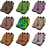 For U Designs Car Seat Covers For Dogs Backseat And Front Washable Leopard Print
