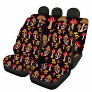 For U Designs Mushroom Car Seat Cover For Front And Rear Universal Fit Van Truck